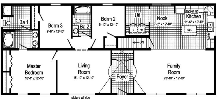 Rectangle Shaped House Plans Homes Floor