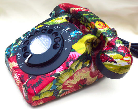 Recycled Fashion Rotary Dial Telephones