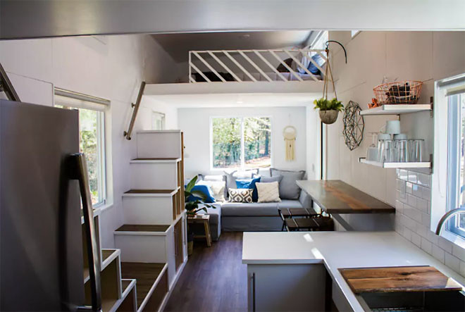 River Resort Modern Double Loft Tiny House Two