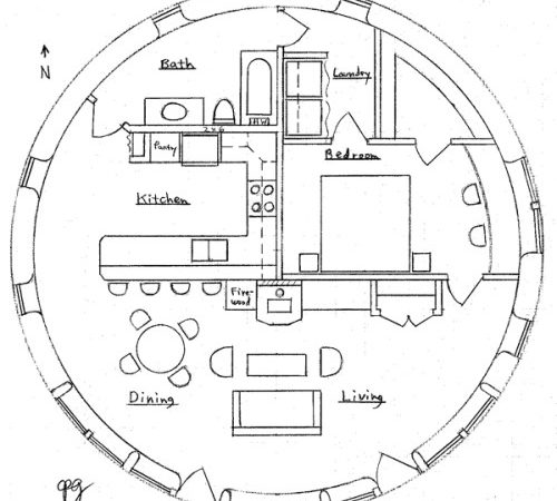 Round House Earthbag Plans
