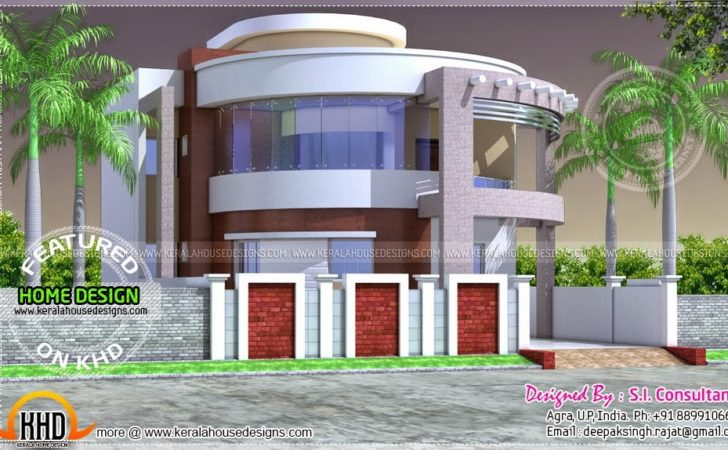 Round Style Contemporary House Design Kerala Home