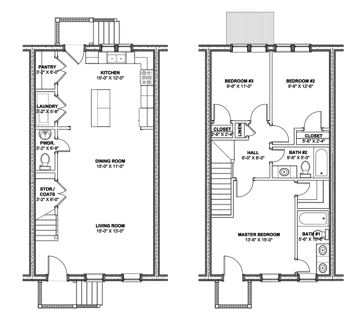 Rowhouse Plans Find House
