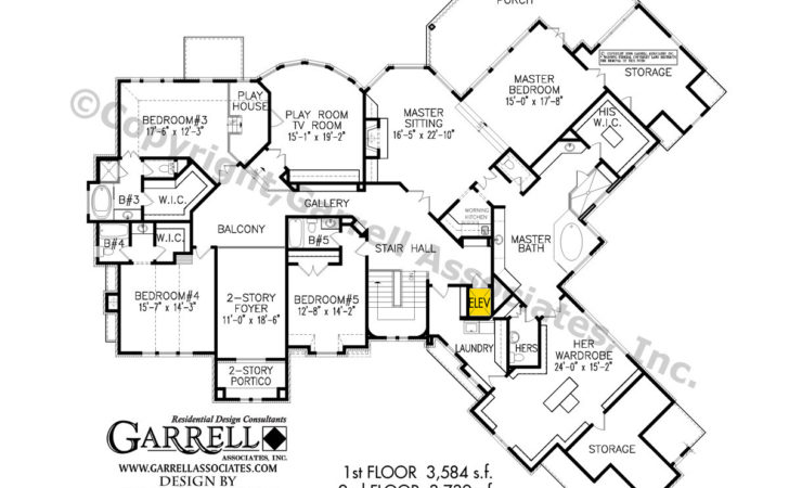 Roxburgh Manor House Plan Elevator Plans