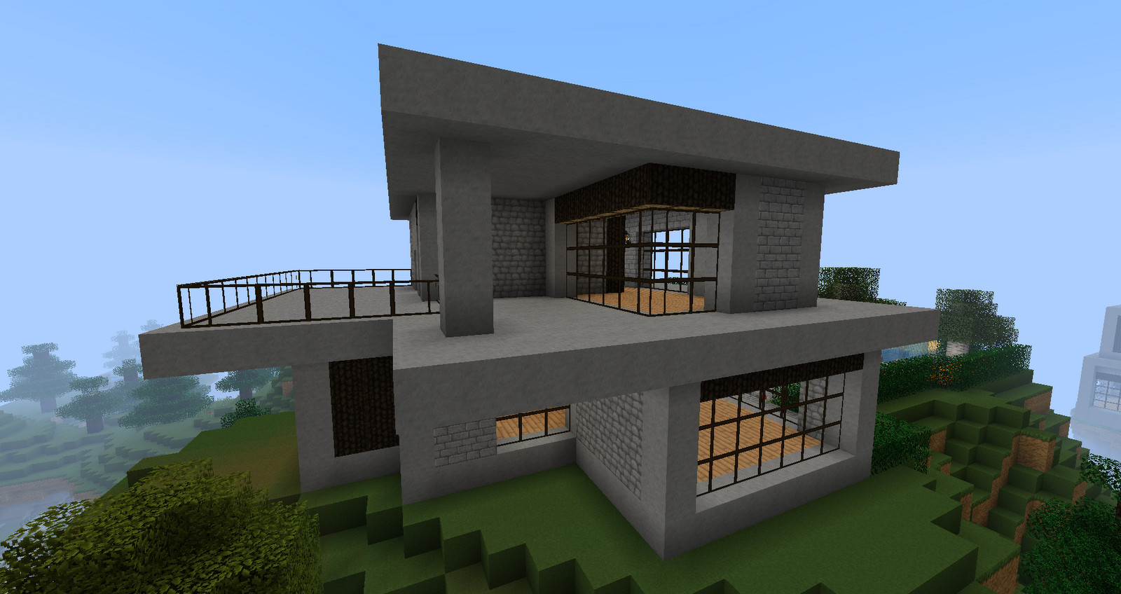 Ruked Minecraft Modern House Schematics Small