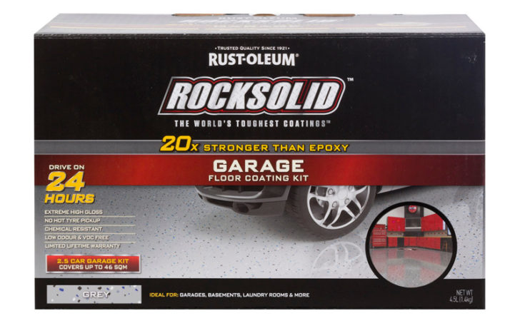 Rust Oleum Grey Rocksolid Garage Floor Coating Car