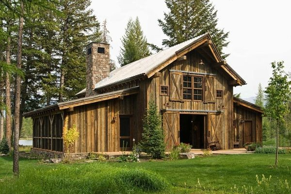 Rustic Cabin Swan Valley Made Mainly Wood Stone