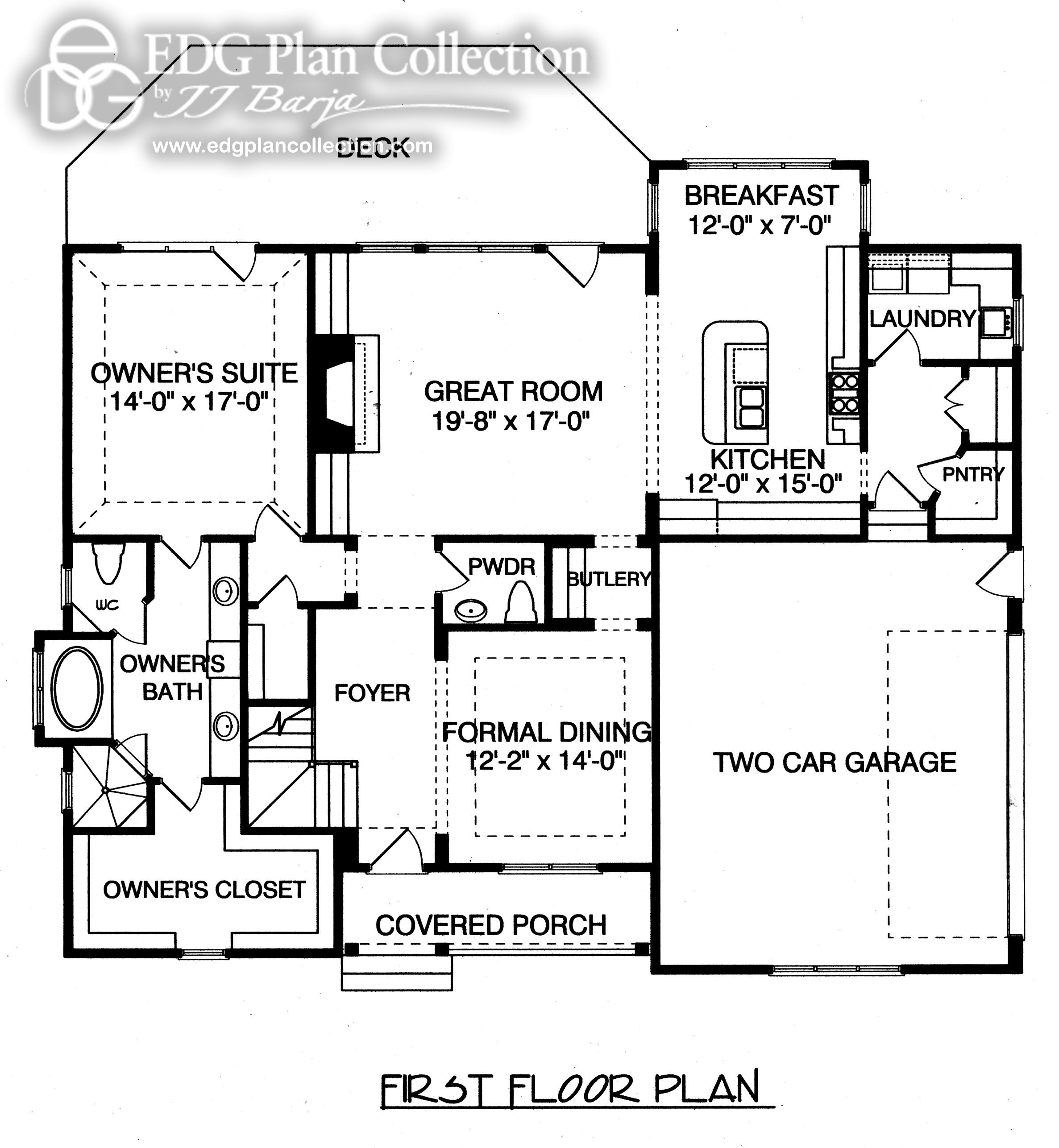 Rustic Cottage Two Plan Edg Collection