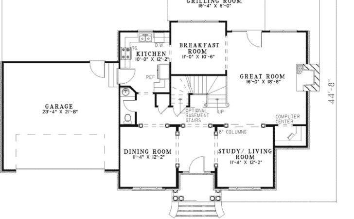 Ryleigh Early American Home Plan House Plans