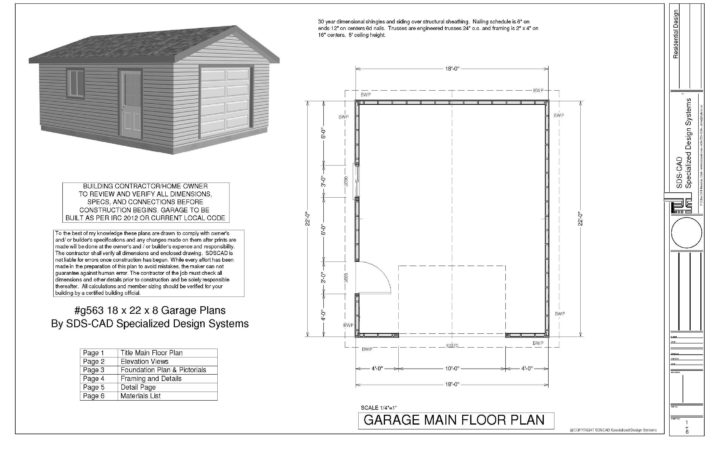 Sample Garage Plan