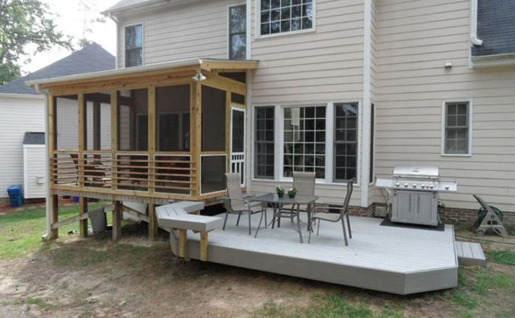 Screened Deck More Comfortable Outdoor Resting