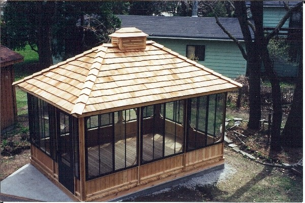 Screened Gazebo Pinterest