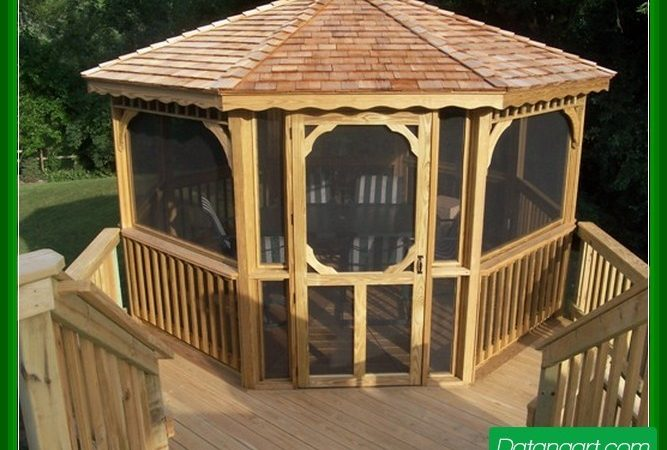 Screened Gazebo Plans Design Idea Home Landscaping