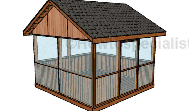 Screened Gazebo Plans Howtospecialist Build