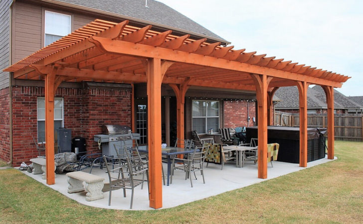 Shaded Attached Pergola Design Plans Your Home