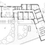 Shaped House Plans Walkout Basement Modern