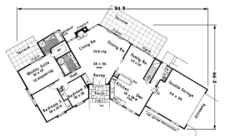 Shaped Ranch House Plans