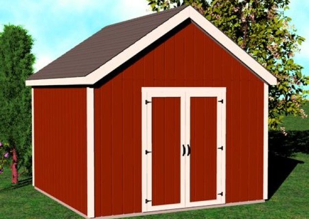 Shed Gable Roof Construction Vintage Plan