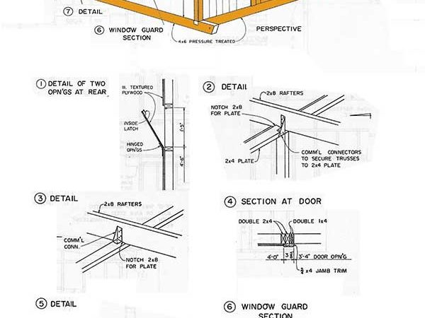 Shed Tongue Groove Lean Storage