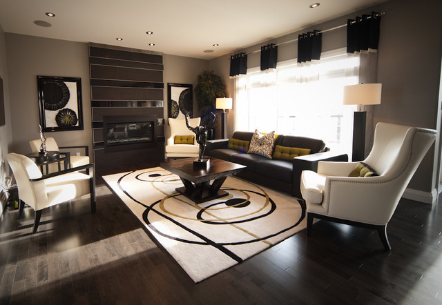 Show Homes Eclectic Living Room Other Metro