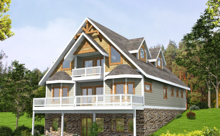 Side Sloping Lot House Plans Home Outdoor
