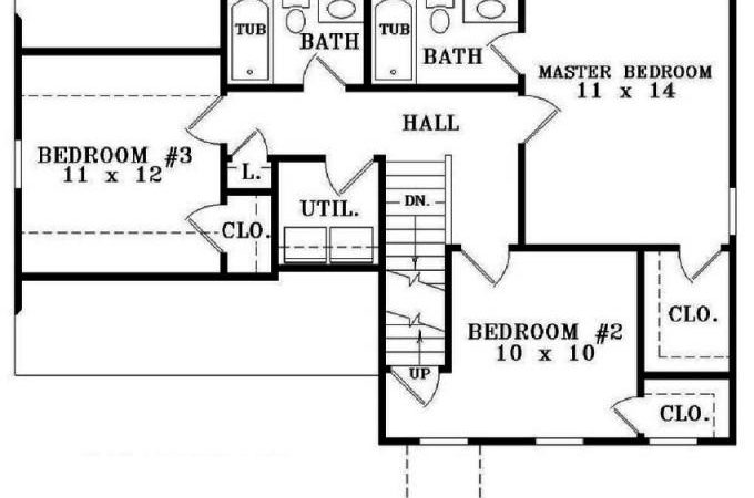 Simple Bedroom Bath House Plan