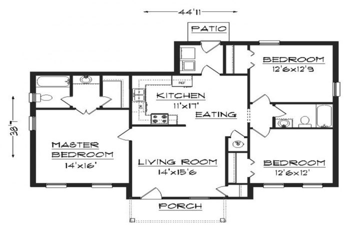 Simple Bedroom House Plans