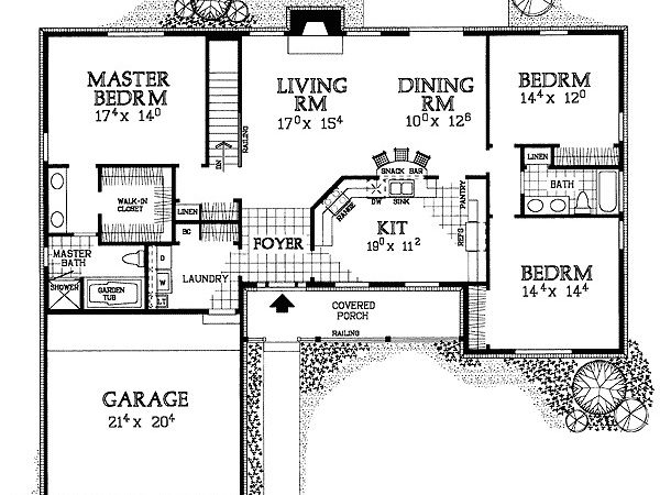 Simple Build Ranch Home Plan Floor
