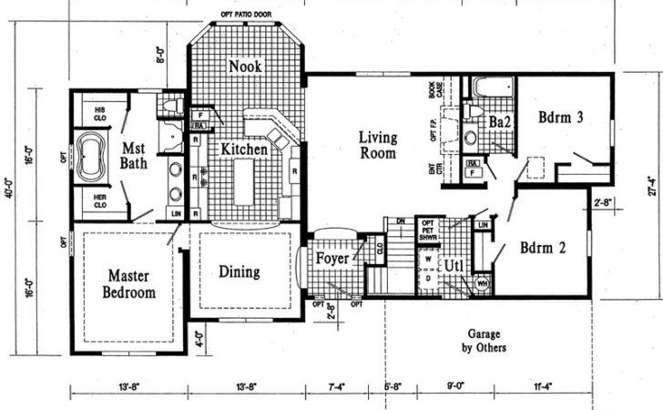 Simple Custom Ranch House Plans Placement