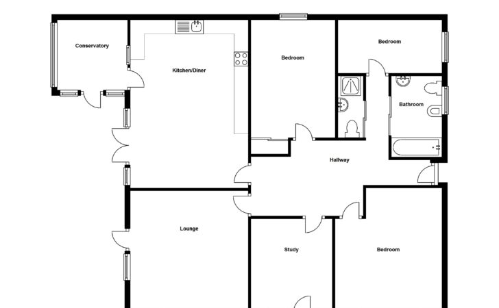 Simple Four Bedroom Flat Bungalow Search Results Small