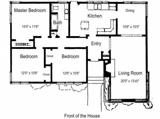 Simple House Plan Bedrooms Floor Plans