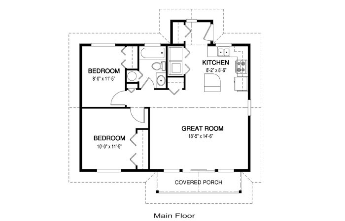 Simple One Story Floor Plans House Chase Linwood