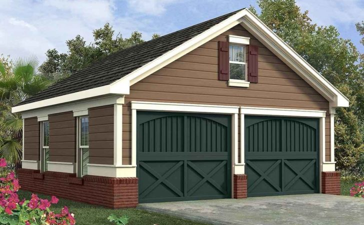 Simple Two Car Garage Architectural Designs