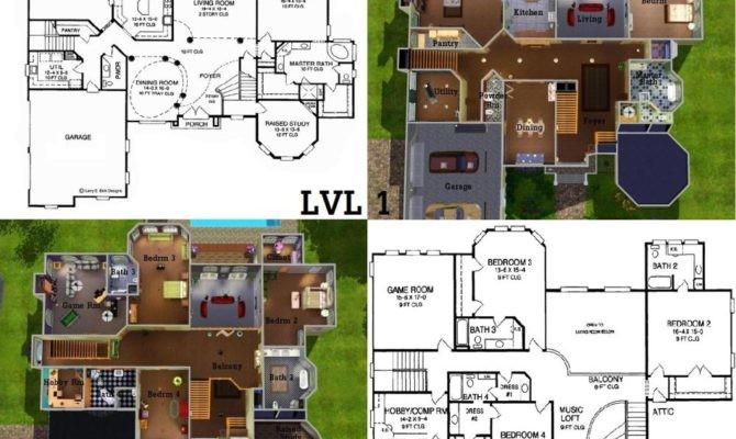 Sims House Floor Plans Ideas