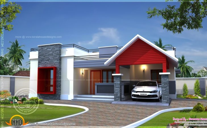 Single Floor Home Plan Square Feet Indian House