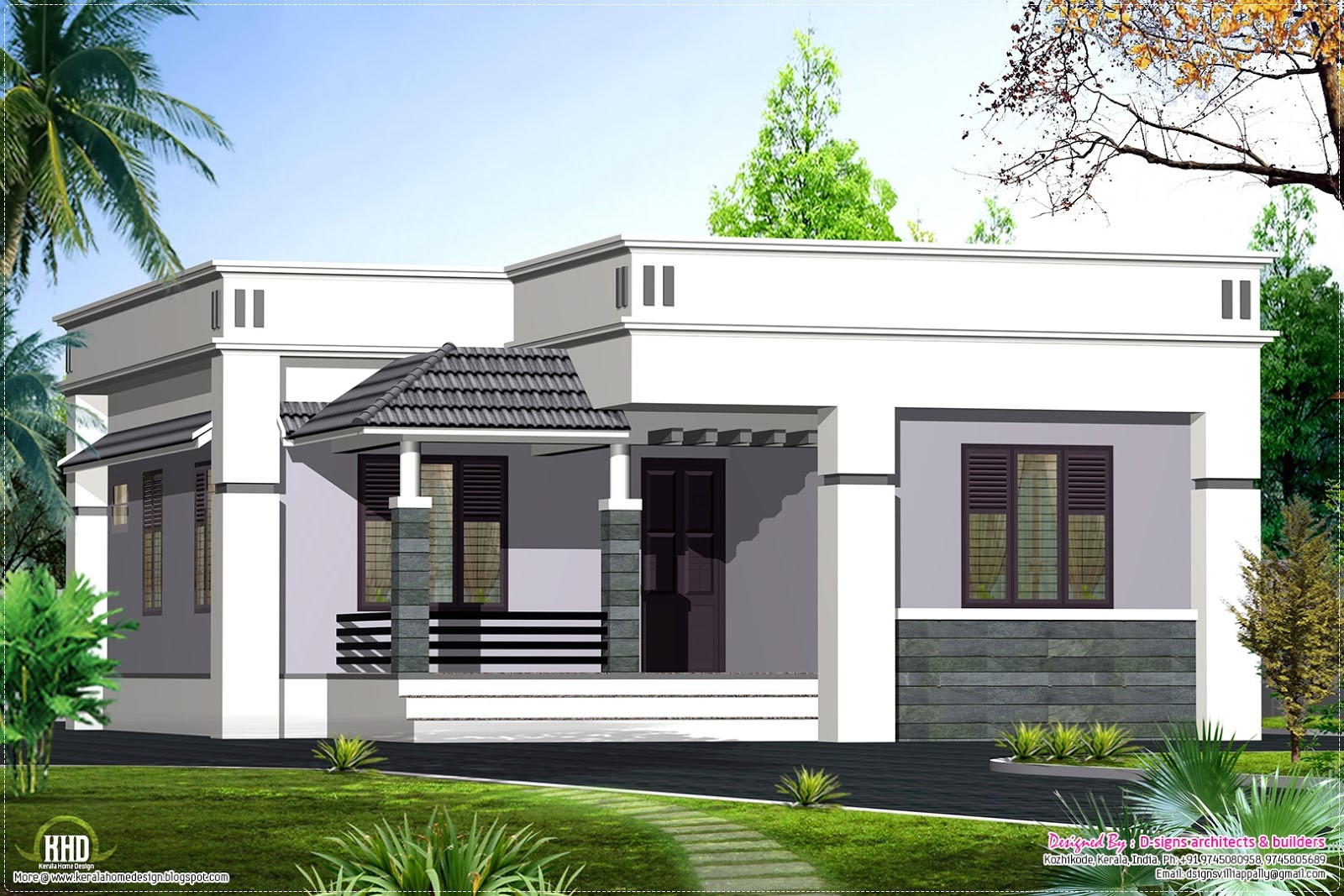 Single Floor House Front Elevations