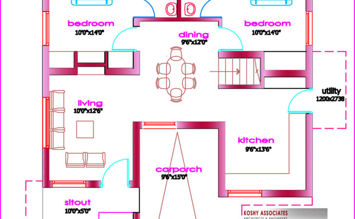 Single Floor House Plan Architecture