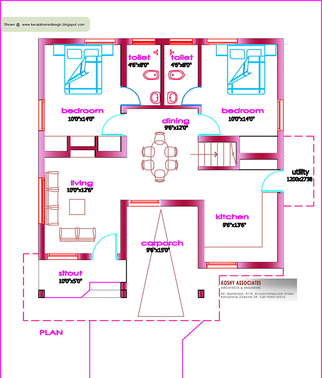 Single Floor House Plan Kerala