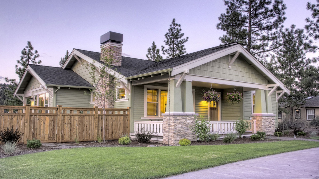 Single Home Plans Craftsman Style