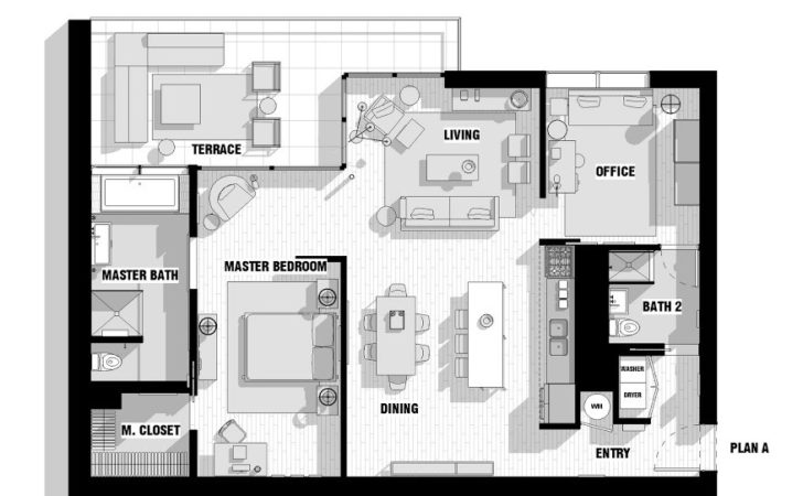 Single Male Loft Floor Plan Olpos Design