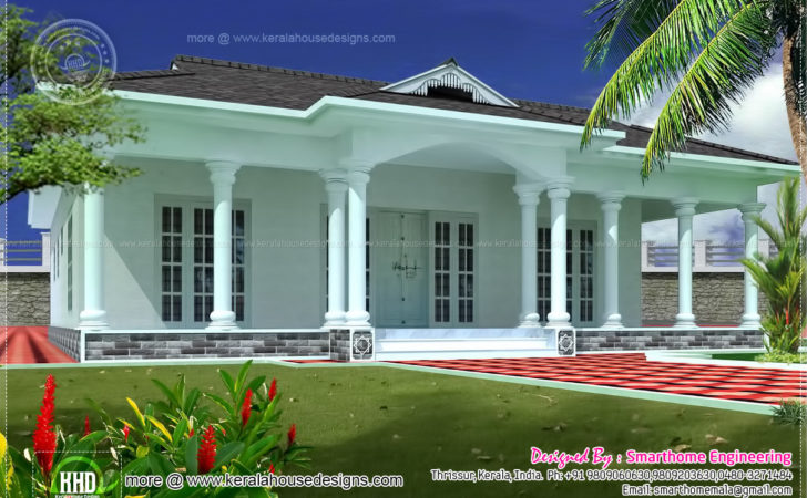 Single Story Bed Room Villa Home Kerala Plans