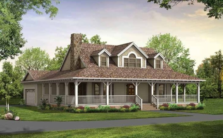 Single Story Farmhouse Wrap Around Porch Square