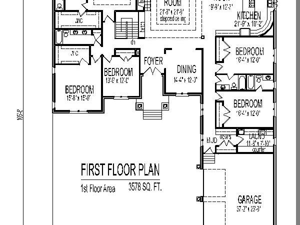 Single Story House Design Tuscan Floor Plans