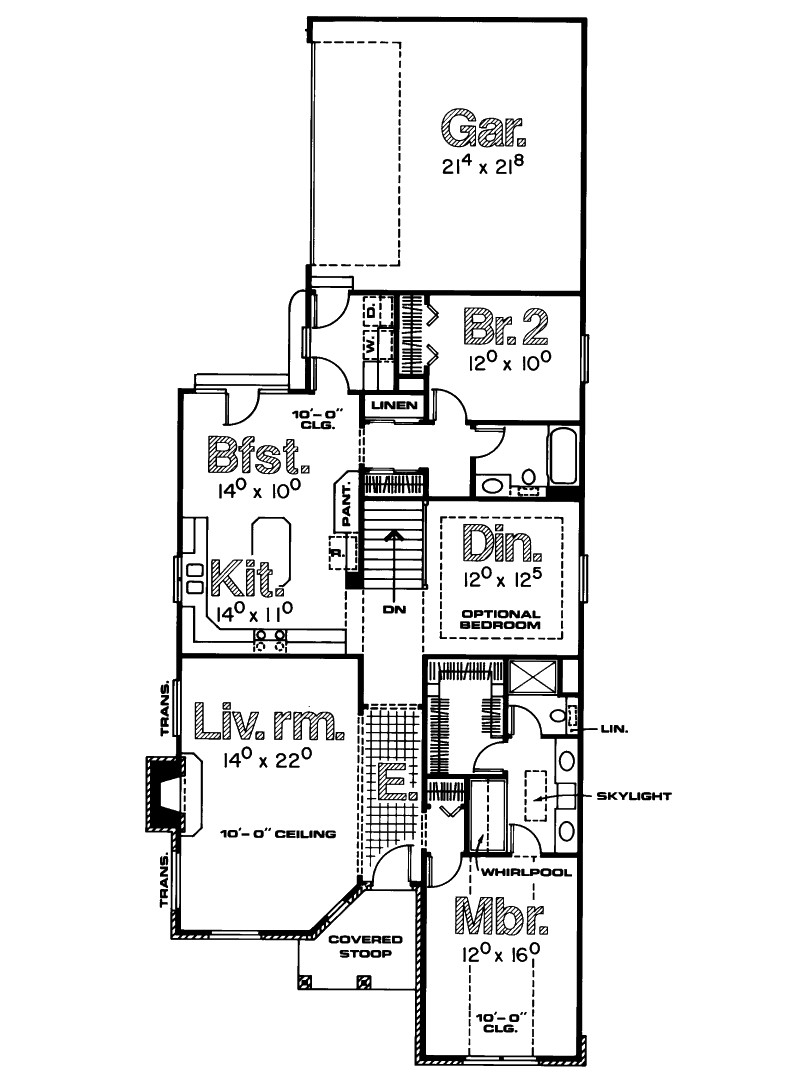 Single Story House Plans Narrow Lots Cottage