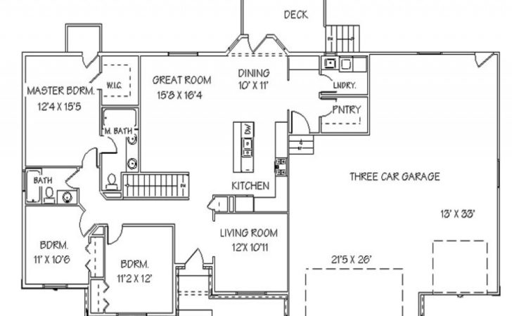 Single Story Open Floor Plans Ranch House