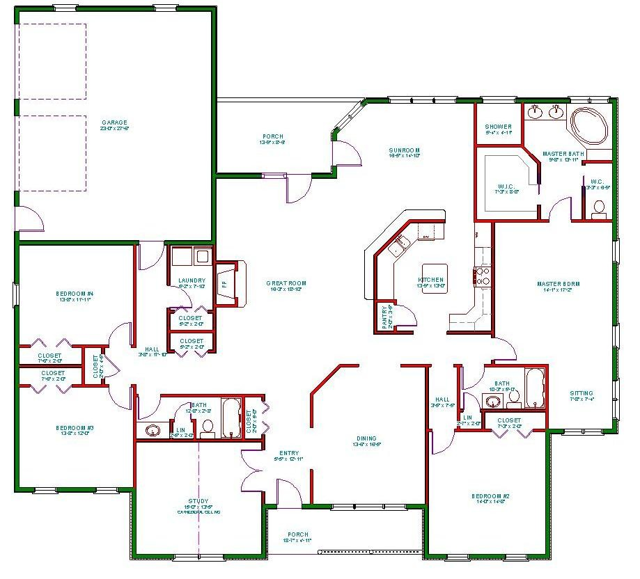 Single Story Ranch House Plans Home Design