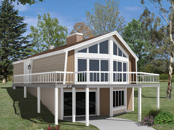 Skyliner Frame Vacation Home Plan House
