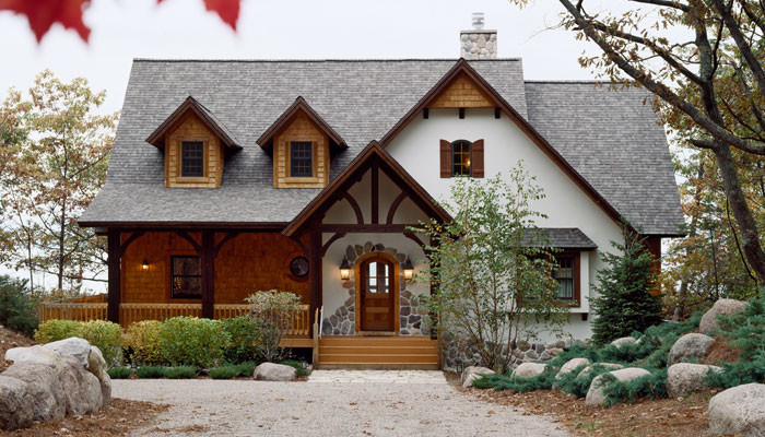 Small Cabin Exterior Design Cottage House Plans