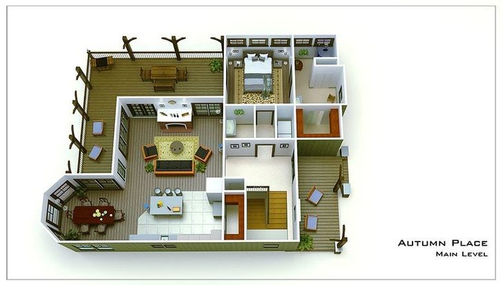 Small Cottage Plan Walkout Basement Cottages