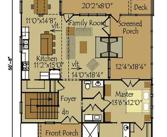 Small Cottage Plan Walkout Basement Floor
