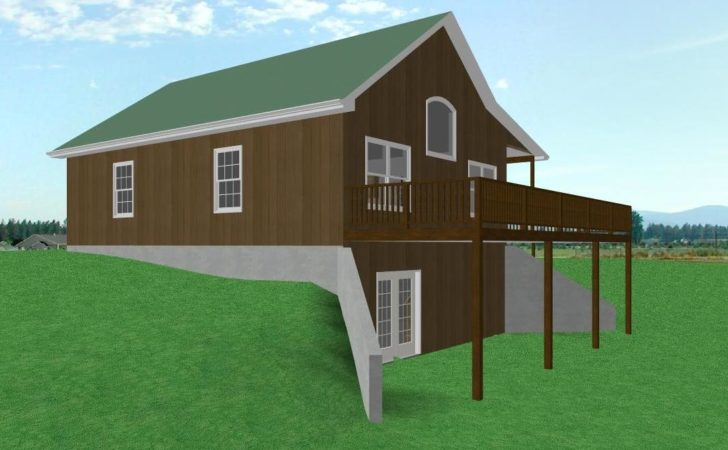 Small Country Cabin House Plan Walkout